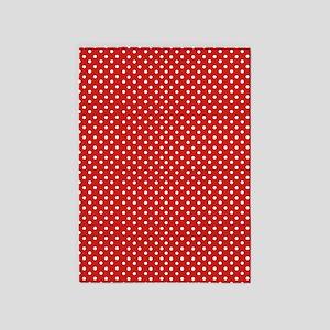 Red Polka Dot 5'x7'Area Rug