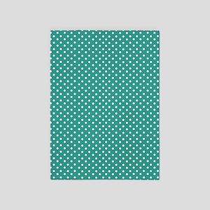 Jade Polka Dot 5'x7'Area Rug