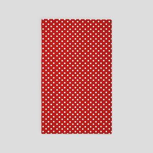 Red Polka Dot Area Rug
