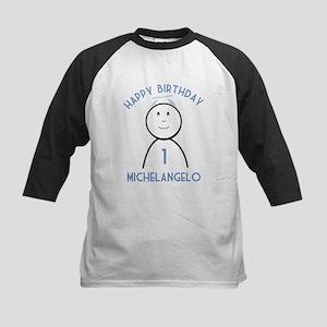 Happy B-day Michelangelo (1st Kids Baseball Jersey