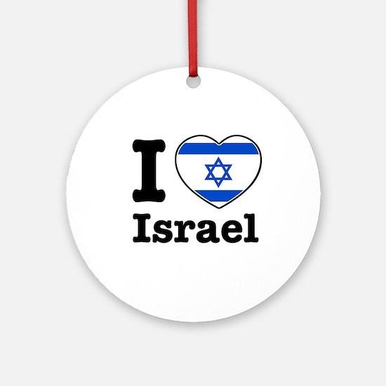 I love Israel Ornament (Round)