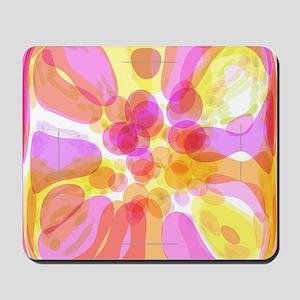 Pink Bubble Pattern Mousepad