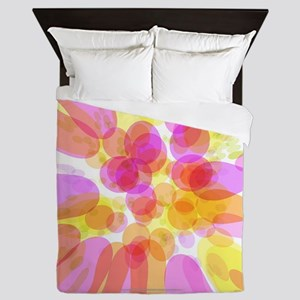 Pink Bubble Pattern Queen Duvet