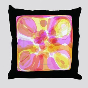 Pink Bubble Pattern Throw Pillow