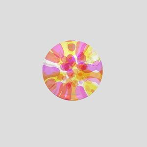 Pink Bubble Pattern Mini Button