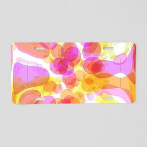 Pink Bubble Pattern Aluminum License Plate
