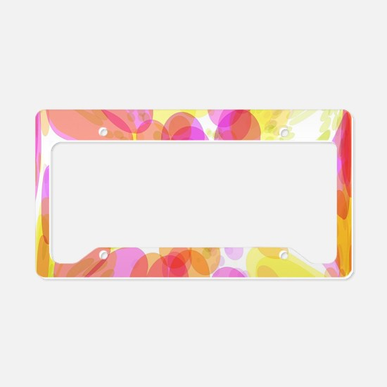 Pink Bubble Pattern License Plate Holder