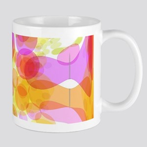 Pink Bubble Pattern Mugs
