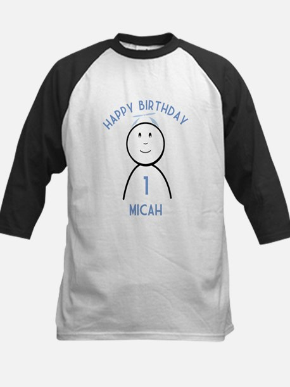 Happy B-day Micah (1st) Kids Baseball Jersey