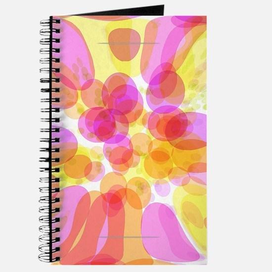 Pink Bubble Pattern Journal