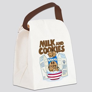 Milk_and_cookies Canvas Lunch Bag