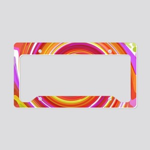 Red Whirlpool License Plate Holder