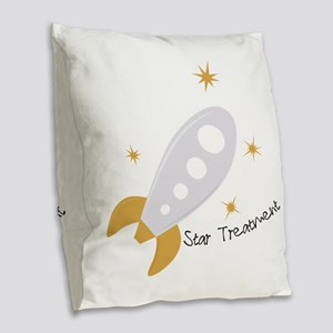 Star Treatment Burlap Throw Pillow