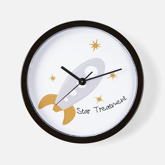 Star Treatment Wall Clock