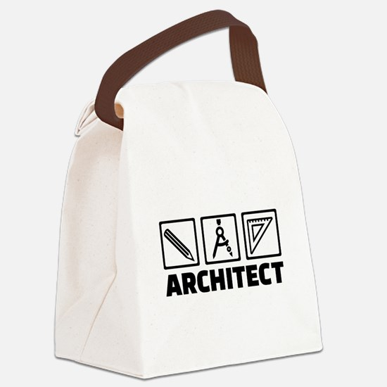Architect tools compass Canvas Lunch Bag