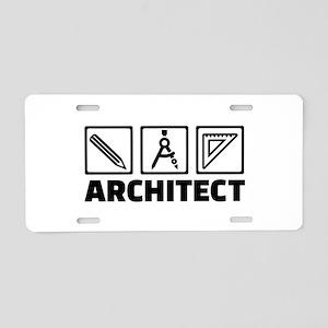 Architect tools compass Aluminum License Plate