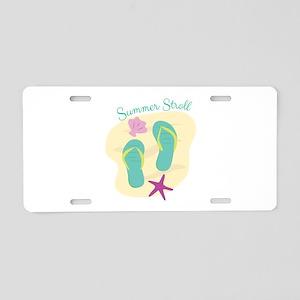 Summer Stroll Aluminum License Plate