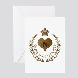 Custom Queen of Hearts Greeting Cards