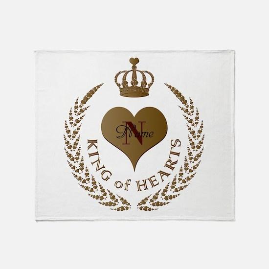 Custom King of Hearts Throw Blanket