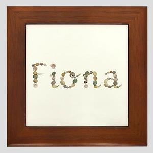 Fiona Seashells Framed Tile