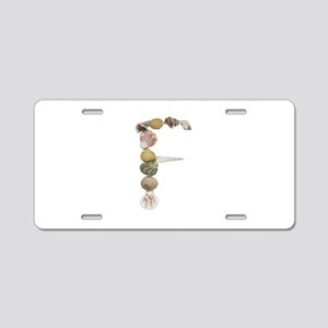 F Seashells Aluminum License Plate