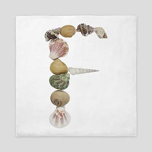 F Seashells Queen Duvet