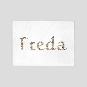 Freda Seashells 5'x7' Area Rug