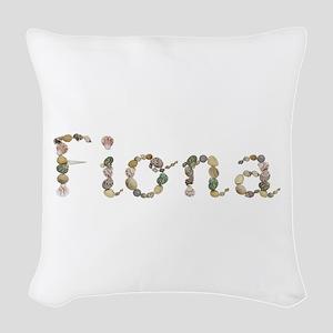Fiona Seashells Woven Throw Pillow
