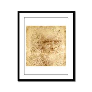 Leonardo Da Vinci Framed Panel Print
