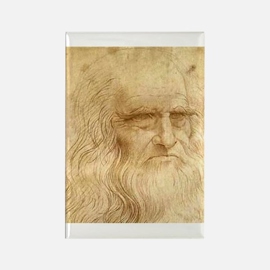 Leonardo Da Vinci Rectangle Magnet