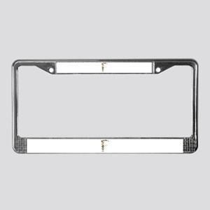 F Seashells License Plate Frame