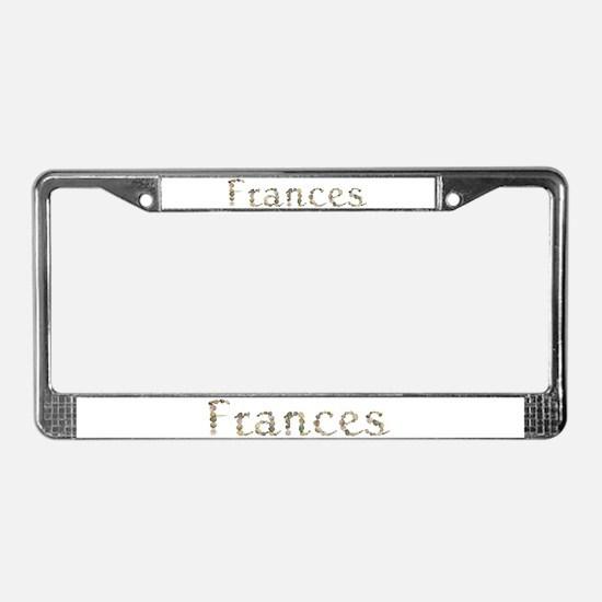 Frances Seashells License Plate Frame