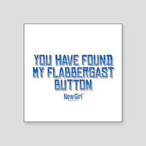 """Schmidt Flabbergast Square Sticker 3"""" x 3"""""""