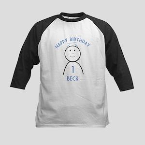 Happy B-day Beck (1st) Kids Baseball Jersey