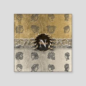 Ancient Gold Platinum Sq Monogram Sticker
