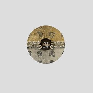 Ancient Gold Platinum Sq Monogram Mini Button