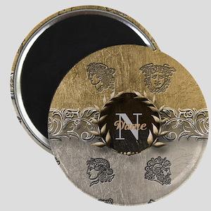 Ancient Gold Platinum Sq Monogram Magnets
