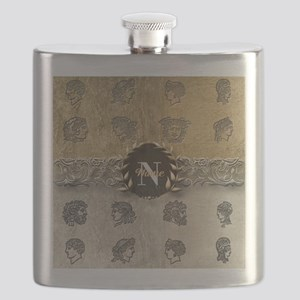Ancient Gold Platinum Sq Monogram Flask