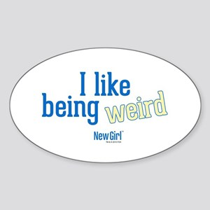Jess Being Weird Sticker (Oval)