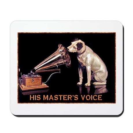 VINTAGE DOG ART: RCA DOG Mousepad