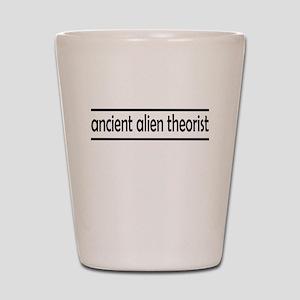 ancient alien theorist Shot Glass