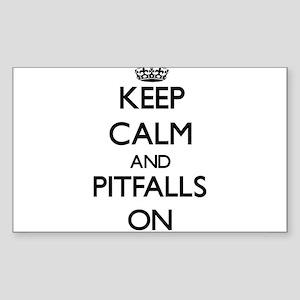 Keep Calm and Pitfalls ON Sticker