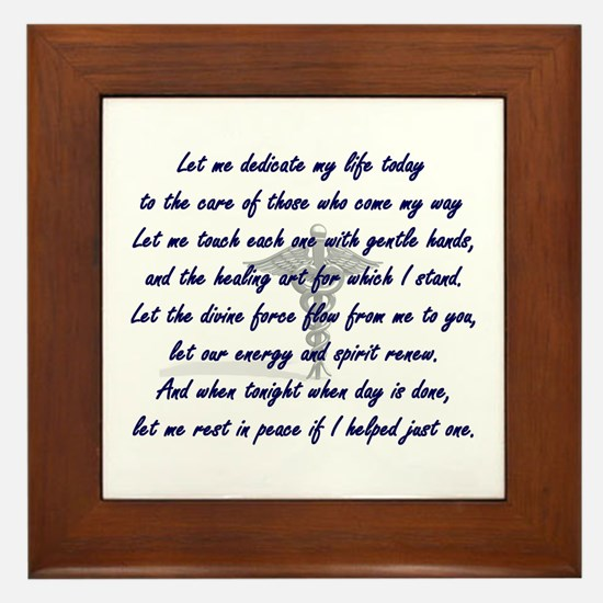 Physical Therapist Prayer Framed Tile