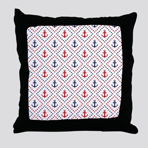 Diamond Anchor NR Throw Pillow