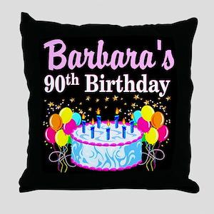 90TH CELEBRATION Throw Pillow