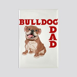 BULLDOG DAD Rectangle Magnet