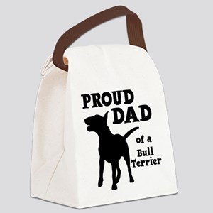 BULL TERRIER DAD Canvas Lunch Bag
