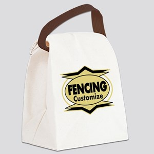 Fencing Star stylized Canvas Lunch Bag