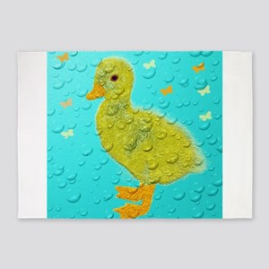 blue baby duckling 5'x7'Area Rug