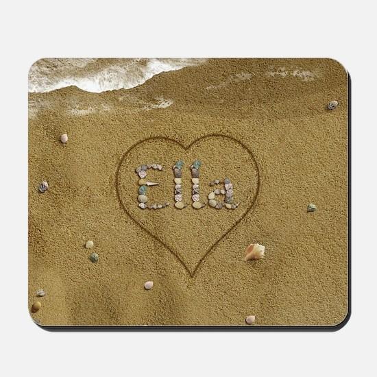 Ella Beach Love Mousepad
